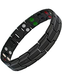 MPS® UBAO Bio 5 in 1 Elements Black Titanium Magnetic Bracelet + FREE Gift Wallet + FREE Links Removal Tool