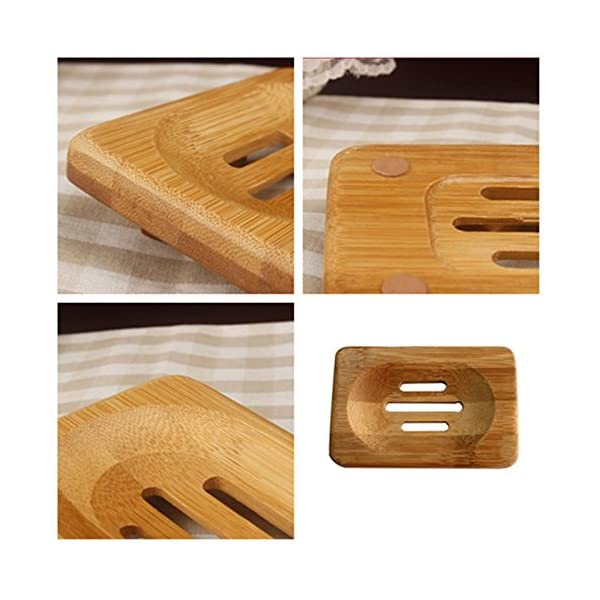 Jabonera de plato Westeng de bamb/ú natural para el ba/ño