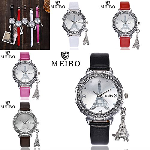 Great Deal Watches For Girls Waterproof On Sale,women's Wrist Watches 2019 Women Quartz Wrist The Eiffel Tower Rhinestone pendant Wrist Watch