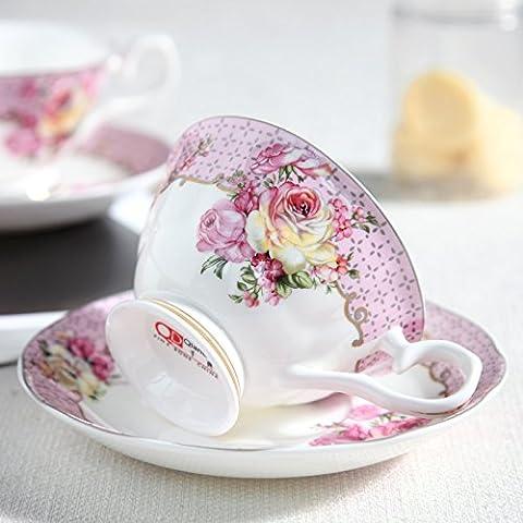 Fuf.Mcl La tazza di caffè kit stile Europeo di osso di cina tè set tazzine (Grande Cina Tazza Di Caffè)