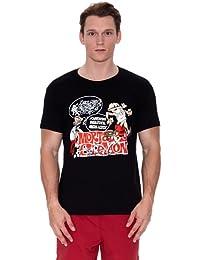 MADNESS Camiseta Manga Corta Mortadelo Y Filemón Negro M