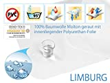 sei Design Wasserdichter Premium Molton-Matratzen-Schoner 100% Baumwolle | wasserundurchlässige Matratzen-Auflage | Kochfest und Sandwich laminiert | 180x200