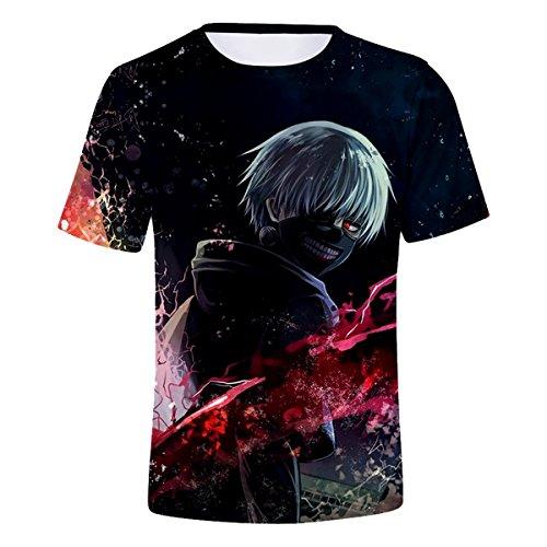CTOOO 2018 3D Tokyo Ghoul T-Shirt été Hommes à Manches Courtes