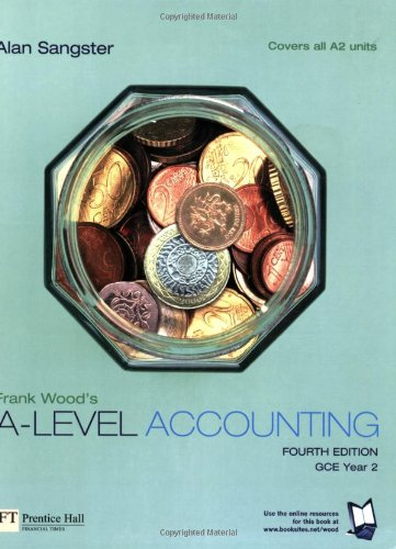 Frank Wood's A-Level Accounting for sale  Delivered anywhere in UK