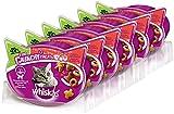 Whiskas Katzensnacks Katzenleckerli Trio Crunchy Fleischgeschmack, 6 Packungen (6 x 66g)
