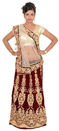 Murari Sarees Women's Velvet Net Saree (MurSari019