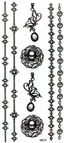 yimei-schmuck-wasserdicht-und-schweiss-halskette-armband-anhanger-tattoo-aufkleber