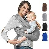 Premium Babytragetuch   Elastisches Babytrage   100% Baumwolle   Baby Wrap Sling für Neugeborene und Kleinkinder   inkl. Trageanleitung   Ohne Künstliches Elastan   Von Future Founder