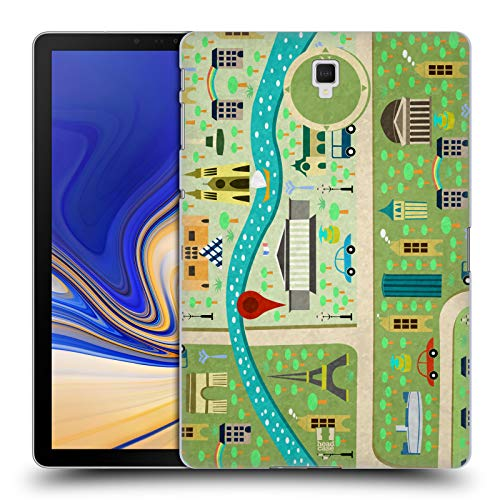 Head Case Designs Frühling In Paris Stadtpläne Ruckseite Hülle für Samsung Galaxy Tab S4 10.5 (2018)