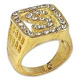 Bristol Novelty BA878 Big Daddy Ring, Herren mehrfarbig Einheitsgröße