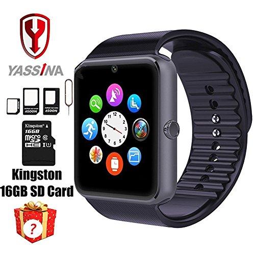 Smart Watch indossabile Bluetooth con slot per SIM Card e Smart NFC salute guardare per iOS e Android (funzioni complete) (parte delle funzioni) bracciale & # xFF08; Black & # XFF09;