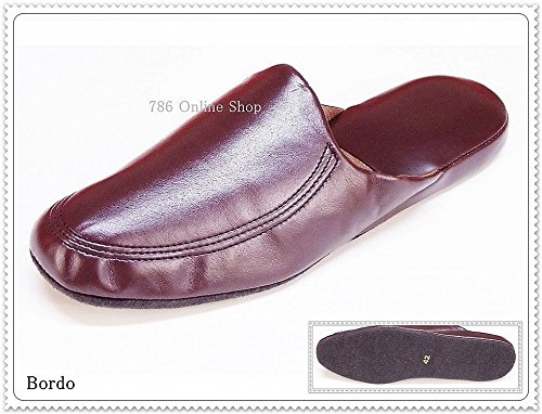 Herren Hausschuhe Badeschuhe (02C) Badelatschen Pantoffel Pantoletten Schuhe Neu Bordo
