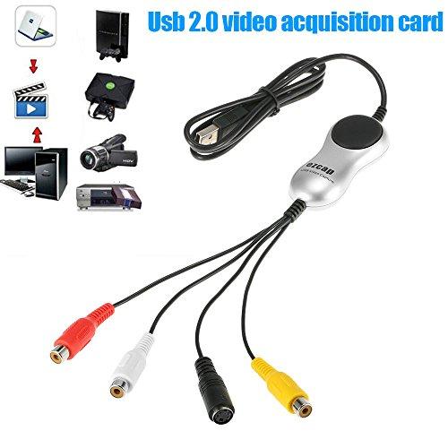 Rokoo 1327/5000 VHS zu DVD Converter S-Video AV zum PC USB Video Capture Card Adapter für Windows (Converter Dvds Ipod)
