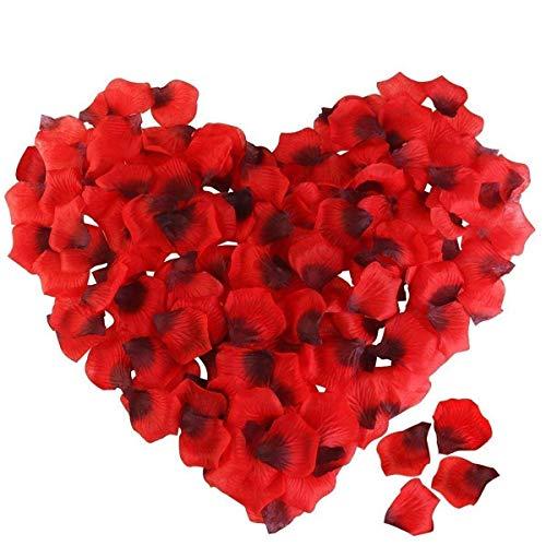 Newland Rosenblätter Rosenblüten für Hochzeit Party und Romantische Atmosphäre (Rose Rot) (4000Stück) -