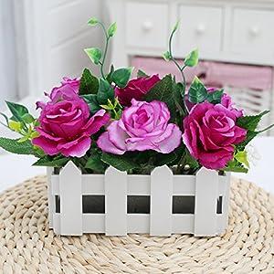 aikenn Seidenblume Plastikblume Blumenarrangement Trockenblume Blume Kunstblume Set Wohnzimmer Wohnaccessoires 16Cm Flieder