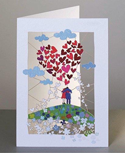 Forever Liebe Laser Cut Karte 3D Grußkarte Danke für die schöne Zeit 16x11cm