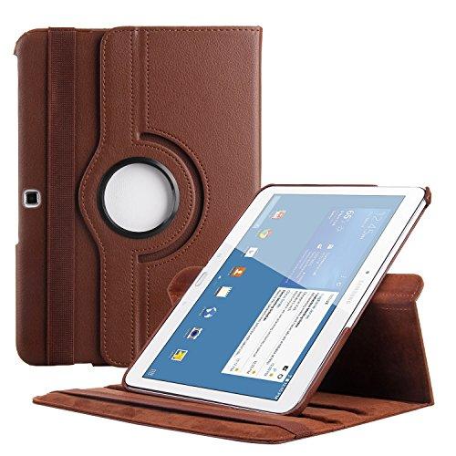 EnGive Ledertasche für Samsung Galaxy Tab 4 10.1 Hülle (10,1 Zoll), Braun