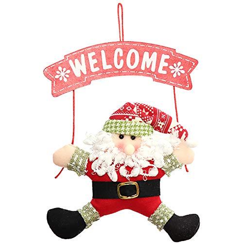 Coalesceaihe Weihnachtsweihnachtsmann-Schneemann-Tür-Baum-Ausgangsdekor-Partei-Willkommens-Verzierung Santa Claus