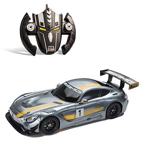 Mondo- Mercedes Radiocomando Transformer Auto/Robot in Scala 1:14 con Batterie Ricaricabili Incluse, Multicolore, 802301