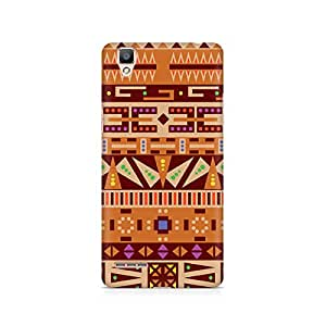 RAYITE Tribal Pizza Premium Printed Mobile Back Case For Oppo F1 plus