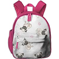 e0eb06fa148f8 Lovely Schoolbag French Bulldog Pattern Double Zipper Closure Waterproof Children  Schoolbag Backpacks With Front Pockets For