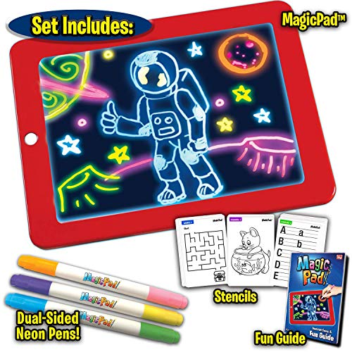 Light Up LED Board   Draw, Sketch, Create, Doodle, Art, Write, Learning Tablet for Kids Fun Magic Lighting pad