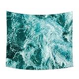 Gespout Tapiz Pared Paño Colgar Decorativo Wall Hanging Mantel Tabla para Barbacoa Playa Hotel Cena Cielo Estrellado Patrones Verde 1pcs 150 * 130cm