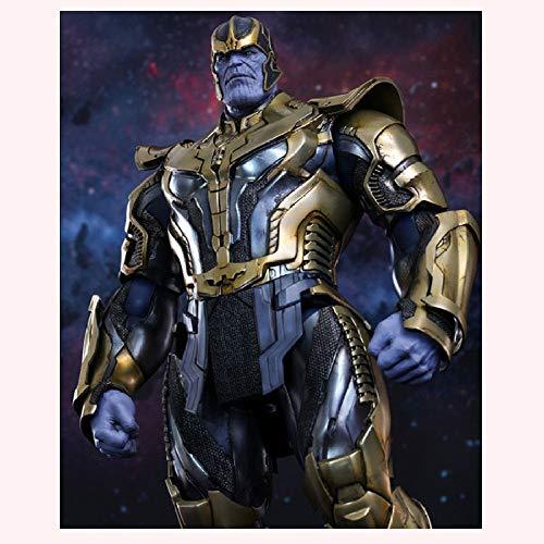 XLYAN ARTFX Plus Statue Avengers League Spielzeug Actionfiguren Thanos Actionfiguren Beweglich,Gelenk Beweglich,36CM,Defensive (Batman Plus Größe)