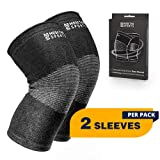 Modetro Sports Knee Compression Sleeve - Provides Arthritis and Joint Pain Relief