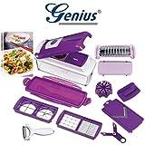 Genius - Nicer Dicer plus Set 13-tlg Multischneider lila mit Sparschäler NEU