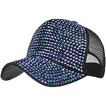 Constructs Moda para Mujeres 54~62Cm Sombreros De Diamantes De Imitación  Ocasionales Gorra De Béisbol 316fb84c691
