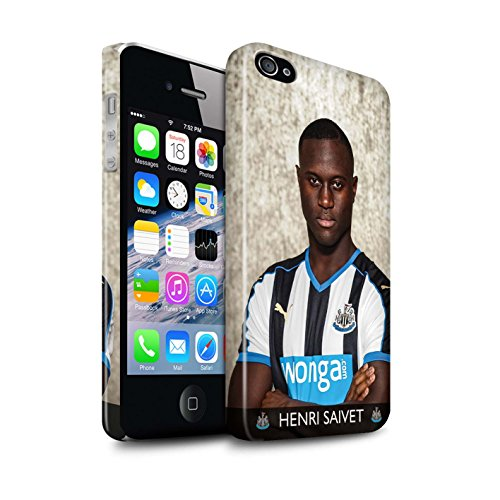 Offiziell Newcastle United FC Hülle / Glanz Snap-On Case für Apple iPhone 4/4S / Pack 25pcs Muster / NUFC Fussballspieler 15/16 Kollektion Saivet