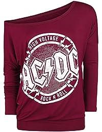 AC/DC High Voltage - Rock 'N' Roll Manches Longues Femme bordeaux