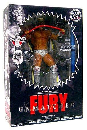 """Preisvergleich Produktbild WWE - UNMATCHED FURY - Platinum Edition - Serie 10 - ULTIMATE WARRIOR - 10"""" / ca. 25cm Figur mit Display-Stand - OVP"""