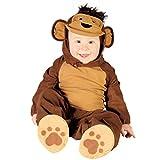 Kostüm Affe Overall Monkey braun Kinderfasching Größe 12-24 Monate