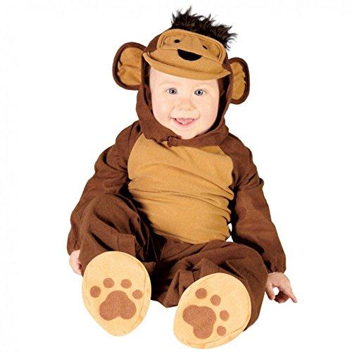 Baby Kostüm Affe Overall Monkey braun Kinderfasching Größe 6-12 Monate