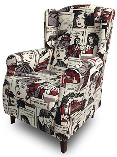 Descanso De Sillones (suenoszzz-sillón Sessel OREJERO. (ideal für Stillkissen) Polster Gewebe HP Modern Medida: 104 x 76 x 74. Comics)