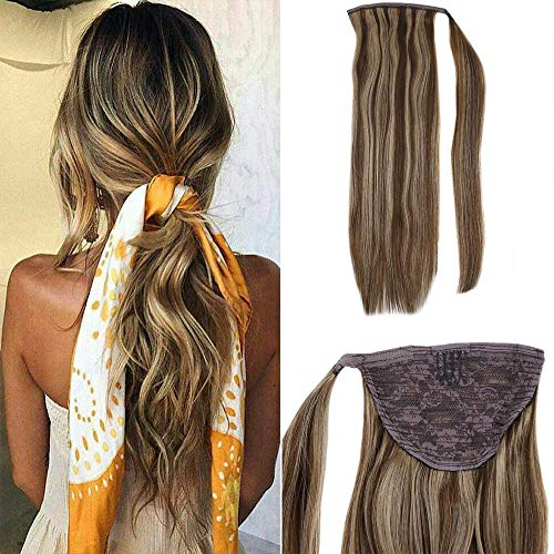 LaaVoo 14 Zoll Remy Clip in Extensions