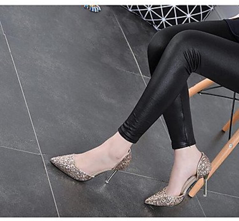 La Mujer Confort Sandalias Glitter Primavera Confort Informal Plata Oro Negro Oro Plana Us5.5 / Ue36 / Uk3.5 /...