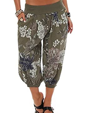 swall owuk Mujer Verano Pumphose Harén Pantalones Pantalones de Tela Globo Pantalón Pluder Pantalones Yoga Pantalones...
