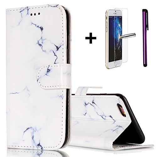 iPhone 6S Plus Coque iPhone 6 Plus liquide Paillettes Coque, CE i6 Plus [Sparkle Diamant Mode Miroir] Luxe Bling hybride souple TPU Bumper + Ultra fin PC Dos rigide Miroir pour iPhone 6S Plus/iPhone 6 T- Marble Series 5