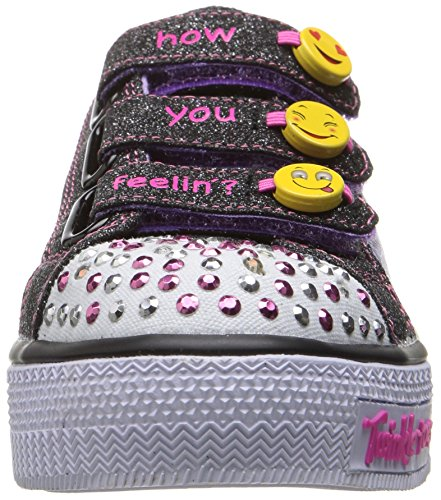 Skechers Step Up, Sneakers Basses Fille Noir (Bklv)