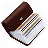 OFIXO Leatherite Business Card Holder ID/Visiting/Debit/Credit Card Holder Case Card (Dark Brown)