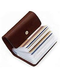 OFIXO Leatherite Business Card Holder ID/Visiting/Debit/Credit Card Holder Case Card (Dark Brown)