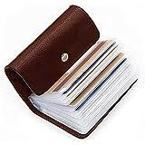 OFIXO 24 Bits Leatherite Business Card Holder ID/Visiting/Debit/Credit Card Holder Case Card (Dark Brown-999)