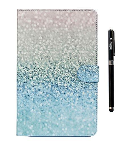 Preisvergleich Produktbild inShang T560 Cover für Samsung Galaxy TAB E 9.6 Inch T 560 Hülle mit PU Leder Skins Etui Schutzhülle Ständer Smart Case Cover, + inShang Logo hochwertigen Stylus Eingabestift Stift