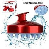 Kopfhautmassagegerät Shampoo Kopfhautmassagebürste Kopfhautpflegehaarreinigung Dusche Körpermassage Clean Brush Hair Comb, weicher Silikonkamm für Männer, Frauen, Kinder und Haustiere