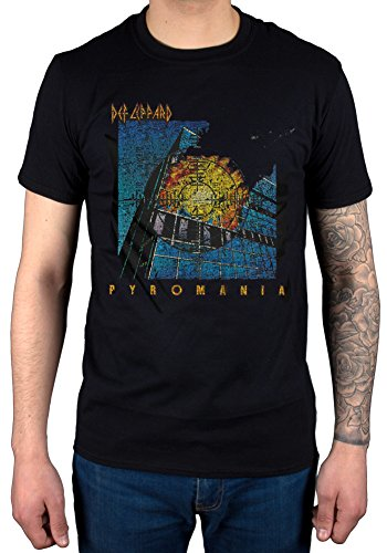 Official Def Leppard Pyromania T-Shirt for Adults, S to XXL