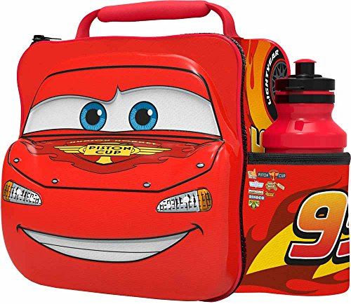 Image of Disney Pixar Cars 3D Thermal Lunch Bag with Bottle