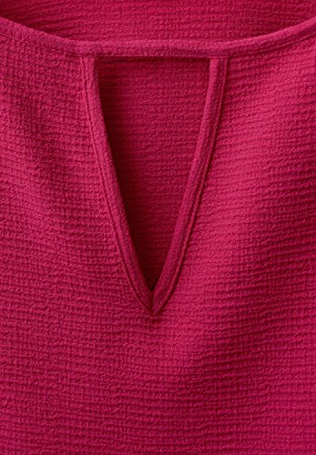 Street One Damen Bluse mit Struktur Pegah passion pink (beere)